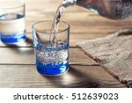 Glasses Of Water On A Wooden...
