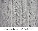 The Knitted Fabric Texture.