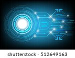 circle hi tech abstract... | Shutterstock .eps vector #512649163
