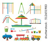 kids playground illustration... | Shutterstock . vector #512651983