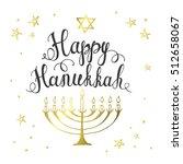 happy hanukkah greeting card.... | Shutterstock .eps vector #512658067