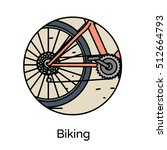 biking icon   circle line icons ... | Shutterstock .eps vector #512664793