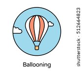 ballooning icon   circle line... | Shutterstock .eps vector #512664823