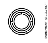 round maze icon   vector simple ... | Shutterstock .eps vector #512669587
