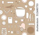 utensils seamless pattern ... | Shutterstock .eps vector #512680753