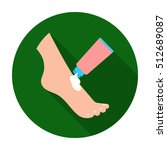 cream for feet icon in flat... | Shutterstock .eps vector #512689087