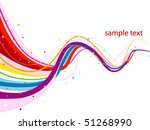 abstract rainbow design   vector | Shutterstock .eps vector #51268990