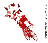 cyclist professional racer... | Shutterstock .eps vector #512693413