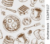 seamless pattern with hand... | Shutterstock .eps vector #512695117