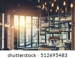 modern loft style restaurant... | Shutterstock . vector #512695483