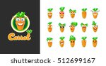 sticker collection of carrots... | Shutterstock .eps vector #512699167