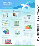 plan your travel infographic... | Shutterstock . vector #512701027