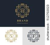 monogram design elements ... | Shutterstock .eps vector #512702023