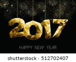 new year 2017 gold holiday... | Shutterstock .eps vector #512702407