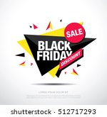 black friday sale banner. black ... | Shutterstock .eps vector #512717293