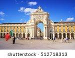commerce square lisbon ...   Shutterstock . vector #512718313