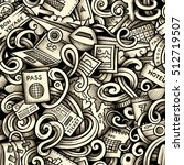 cartoon doodles travel season... | Shutterstock . vector #512719507