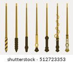 magic wands. magic and magical... | Shutterstock .eps vector #512723353