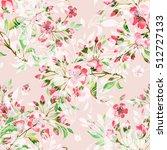 seamless watercolor pattern... | Shutterstock . vector #512727133