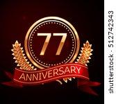 seventy seven years anniversary ... | Shutterstock .eps vector #512742343