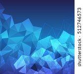 blue polygon background.polygon ...   Shutterstock .eps vector #512746573