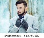 outdoor portrait of handsome... | Shutterstock . vector #512750107
