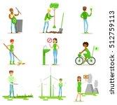 men and women contributing into ... | Shutterstock .eps vector #512759113