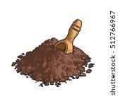 hand drawn pile of cocoa powder