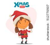 cheerful child. winter...   Shutterstock .eps vector #512770507