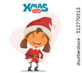 cheerful child. winter...   Shutterstock .eps vector #512770513