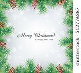 vector christmas background... | Shutterstock .eps vector #512776387