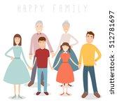 big family portrait....   Shutterstock .eps vector #512781697