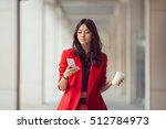 young asian woman with... | Shutterstock . vector #512784973