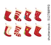 vector cartoon cute christmas...   Shutterstock .eps vector #512788993