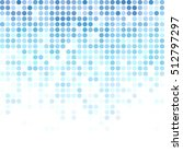 blue random dots background ... | Shutterstock .eps vector #512797297