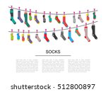 Flat Design Colorful Socks Set...
