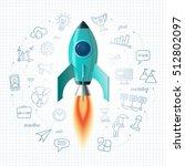 space rocket launch. business... | Shutterstock .eps vector #512802097