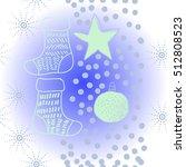 pattern of christmas  motifs ... | Shutterstock . vector #512808523