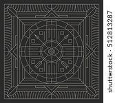 mandala. abstraction. linear...   Shutterstock .eps vector #512813287