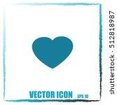 heart icon | Shutterstock .eps vector #512818987