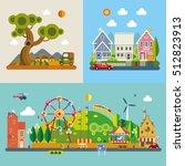 modern flat design conceptual... | Shutterstock .eps vector #512823913