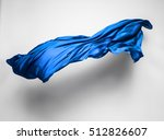 Abstract Piece Of Blue Fabric...