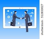 internet deal business concept. ... | Shutterstock .eps vector #512833027
