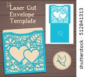 lasercut vector wedding... | Shutterstock .eps vector #512841313