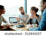 meeting of managers | Shutterstock . vector #512843257