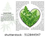 marijuana cannabis heart flyer... | Shutterstock .eps vector #512844547
