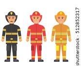 fireman in uniform character... | Shutterstock .eps vector #512852317