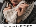 warm scarf in the winter | Shutterstock . vector #512854273