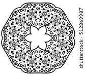 vector henna tatoo mandala.... | Shutterstock .eps vector #512869987