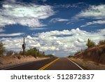 arizona highway with no... | Shutterstock . vector #512872837